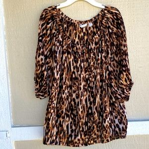 New York & co   off the shoulder cheetah top